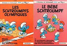 LOT 2 LES SCHTROUMPFS EO n°11 & 12 ¤ LE BEBE SCHTROUMPF / SCHTROUMPFS OLYMPIQUES