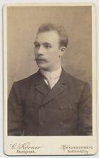 CDV foto Braunschweig-finos señor con bigote (y138)
