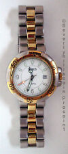 Nexus Men's Fashion Watch White Face Silver & Gold Toned Stainless Steel Quartz