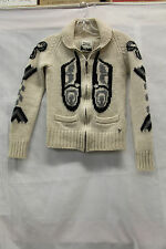 TNA Womens 100% Lambswool Zip Up Jacket Size Small Good Used Cond 1742