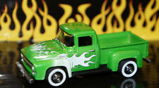 LIMITED ED. 1/64 SCALE FLAMES 1956 56 FORD F100 PICKUP TRUCK DIECAST GREENLIGHT