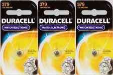 3 NEW Duracell 379 Button Coin Battery Silver Oxide 1.5 volt Watch/Calculator