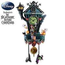 Disney Jack Skellington Kuckucksuhr Nightmare before Christmas Uhr Licht & Musik