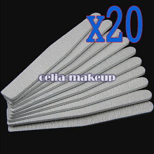 20pcs Nail Art Care Sanding Buffing Manicure 100/180 Acrylic Gel Files Tool Grit