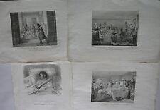 S. A. R. le Duc de Berry. 4 estampes Assassinat Secours Grâce. Vigneron 1820.