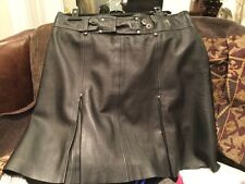 leather look skirt black size 14