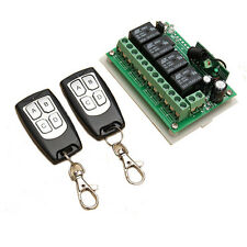 12V 4CH Channel 433Mhz Wireless Remote Control Switch With 2 Transmitters