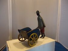 Rare Black Americana tin windup keywind toy Struss tip top wind up