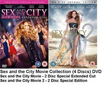 SEX AND THE CITY THE MOVIE 1 AND 2 DVD DOUBLE PACK 2 FILMS NEW SEALED UK RELEASE