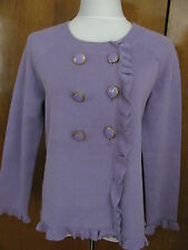 New w/tags Kenar women's 100% cotton lilac stylish cardigan size Large