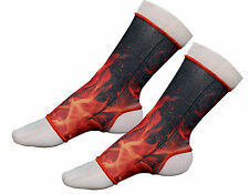 Thai Boxing, Muay Thai Ankle Support Anklets FLAME/FIRE- Size Senior