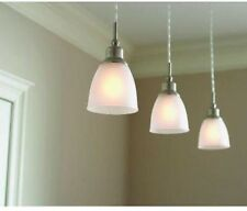 Brushed Nickel 1-Light Mini Pendant Hangin Ceiling Fixture Home Decor (3-Pack)
