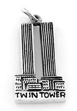 STERLING SILVER 925 NEW YORK'S TWIN TOWERS CHARM