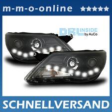DRL Inside ® LED R87 echte Tagfahrlicht Scheinwerfer Schwarz VW Tiguan 06 - 11