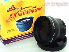 Z2a 2X TELE telephoto Lens 37mm for Olympus OM-D E-M10 / Mark II 2 14-42mm Lens