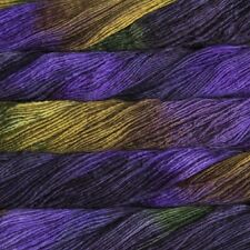 WITCH PURPPLE+BLACK+GOLD+GREEN LG Skein 210yd Malabrigo WORSTED Merino Wool YARN