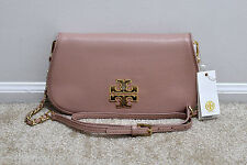 NWT Tory Burch Britten Clutch Crossbody in Indian Rose 41149576 MSRP $350