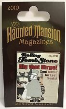 Disney - Haunted Mansion Magazines - Rolling Tomb Stone LE 2500 Pin