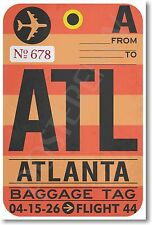 ATL - Atlanta Airport Baggage Tag - NEW Travel POSTER (tr479)