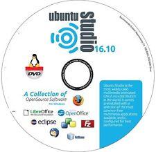 UBUNTU Studio 16.10 Yakkety Yak! Linux  DVD
