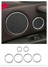 Stainless Inner Door Speaker Sound Ring Cover Trim 6pcs For BMW X5 F15 2014 2015