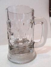 ancienne chope a biere en verre alveolé bistrot 2 dl epoque vers 1910