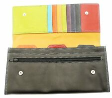 Leather Travel Wallet Document Holder Passports Tickets Travellers Cheques Money