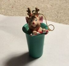 Rare Tupperware Mouse E. Bell Holiday Ornament Consultant Awards New In Box