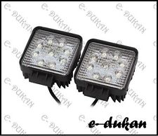 2x 9 CREE LED SQUARE, OFF ROAD/ FLOOD LIGHT FOG LAMP 27W ROYAL ENFIELD BIKE CAR