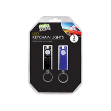 Key Ring Torch Led Car Motorbike Camping High Quality 2 Pack Black & Blue OTL