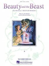 Beauty and the Beast From the Disney Movie Sheet Music Piano Vocal Ang 000356094