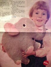Nelly The Jolly Jumbo Elephant Vintage Knitting Pattern