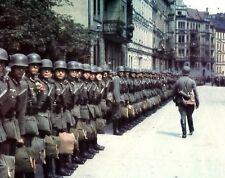 """German Soldiers lining up in 1941 8""""x 10"""" World War II Photo Picture 290"""