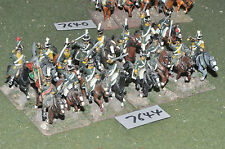 25mm napoleonic french chasseur a cheval 16 cavalry (7644) metal painted