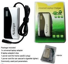 Universal 90W LCD Automatic laptop charger power adapter & 5V 2A USB output