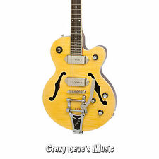 Epiphone Wildkat Antique Natural Bigsby Tremolo Archtop Electric Guitar