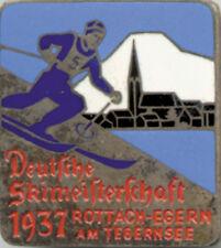 Deutsche Skimeisterschaft 1937 German Skiing Championships Pin badge Abzeichen