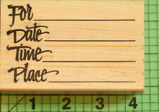 Posh Impressions Invitation rubber stamp For, Date, Time, Place
