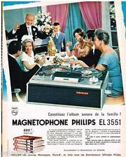 PUBLICITE ADVERTISING 105  1964  PHILIPS  magnétophone EL 3551 Album sonore