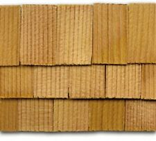 "Dollhouse Roofing Hand Split Cedar Square Shingles 140 Pcs 1"" Scale #CLA70254"