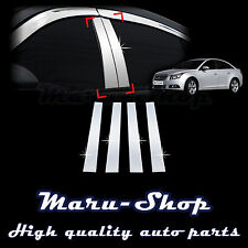 Chrome B-Pillar Post Decal Sticker Trim for 09~15 Chevrolet Cruze 4DR/5DR