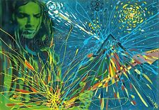 David Gilmour Pink Floyd oil on canvas from artist Image picture art