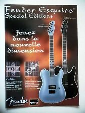 PUBLICITE-ADVERTISING :  Guitares FENDER Esquire Special Edition  09/2003