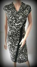 Lovely UK size 18 STAR BY JULIEN MACDONALD Polyester black abstract shift dress