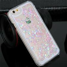 Dynamic Quicksand Glitter Heart Liquid Hard Phone Case Cover For iPhone 6 7Plus
