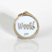 Pet Dog Identity Tag Quality WOOF Design ID Tag, FREE DELIVERY, Engraving Option