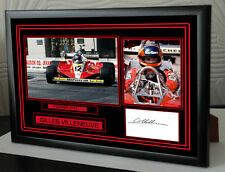 "Gilles Villeneuve Black Framed  Signed ""Great Gift"""