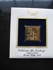 WORLD WIDE WEB WWW 22kt Gold Stamp Freplica FDI FDC Golden Cover