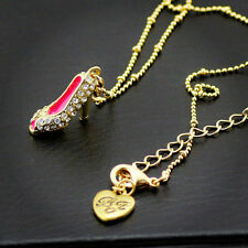 bj927a Betsey Johnson GP Clear Heel Shoe Ball Chain Necklace w/Tags