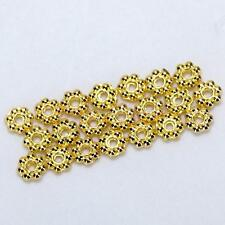 100 X 4mm Gold Plated Daisy Flower Spacer Loose Beads charm jewelry findings DIY